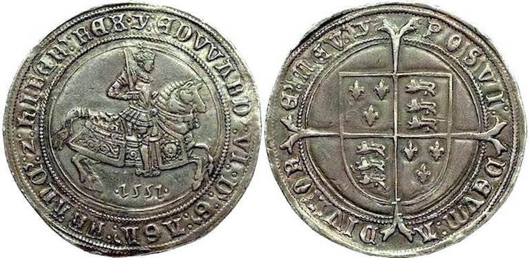 Edward VI & Mary Tudor on coins